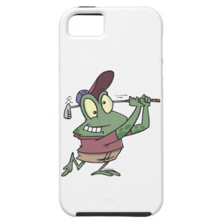 silly golfing golfer frog cartoon iPhone 5 cases