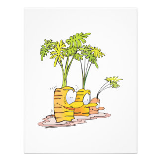 silly goofy cute cartoon carrots rooted invitation