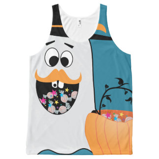 Silly Halloween Ghost Wants Your Candy All-Over Print Tank Top