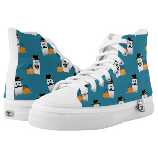 Silly Halloween Ghost Wants Your Candy pattern High Tops