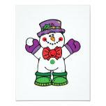 silly happy snowman custom invites