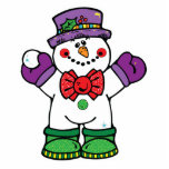 silly happy snowman cut out