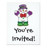 silly happy snowman invitation