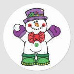 silly happy snowman stickers