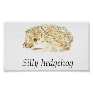 Silly hedgehog poster