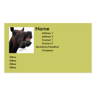 Silly Horse Business Card