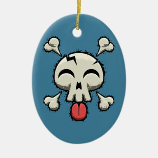 Silly Jolly Roger Christmas Ornament
