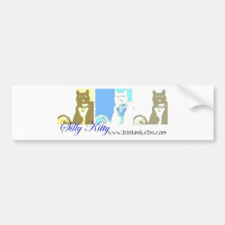 Silly Kitty bumper sticker