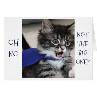 "SILLY KITTY SAYS ""OH NO, NOT THE BIG ONE"" BIRTHDAY CARD"