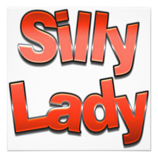 Silly Lady Red Art Photo