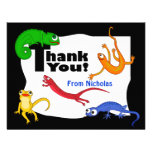 Silly Leaping Lizard Thank You Note