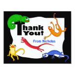 Silly Leaping Lizard Thank You Note 11 Cm X 14 Cm Invitation Card
