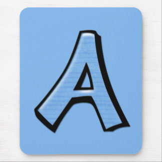 Silly Letter A blue Mousepad