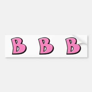Silly Letter B pink cutout Stickers Bumper Sticker