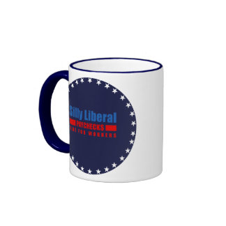 Silly Liberal. Paychecks are for workers. Ringer Mug