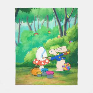 Silly Little Bunny Med Fleece Blanket