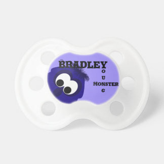 Silly Little Dark Blue Violet Monster Pacifiers