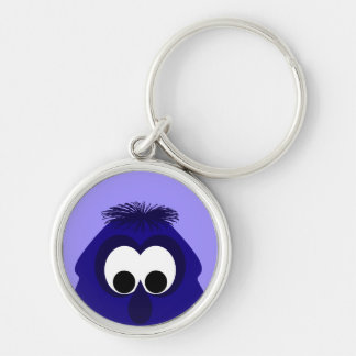 Silly Little Dark Blue Violet Monster Key Chains