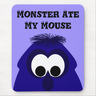 Silly Little Dark Blue Violet Monster Mouse Pad