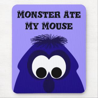 Silly Little Dark Blue Violet Monster Mouse Pads