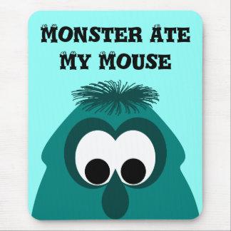 Silly Little Dark Cyan Monster Mousepads