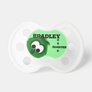 Silly Little Dark Green Monster Baby Pacifiers