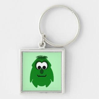 Silly Little Dark Green Monster Keychains