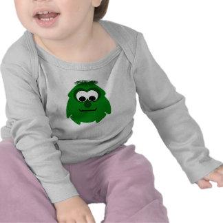 Silly Little Dark Green Monster Tee Shirts