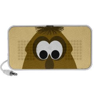 Silly Little Dark Orange Monster Portable Speakers