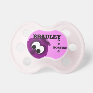 Silly Little Dark Pink Monster Baby Pacifiers