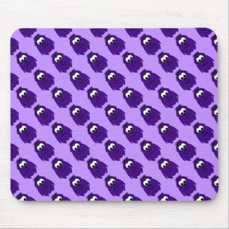 Silly Little Dark Purple Monster Mousepads
