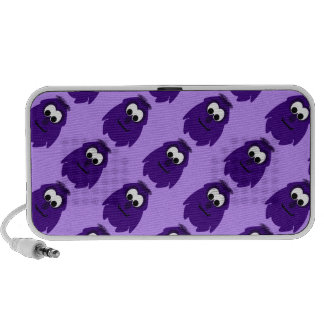 Silly Little Dark Purple Monster Notebook Speakers