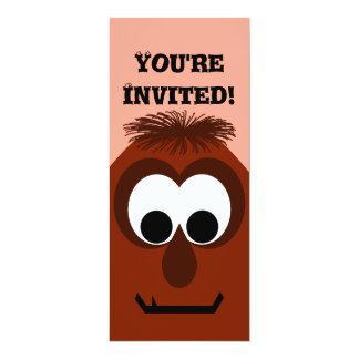 Silly Little Dark Red Monster 10 Cm X 24 Cm Invitation Card
