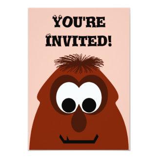 Silly Little Dark Red Monster 13 Cm X 18 Cm Invitation Card