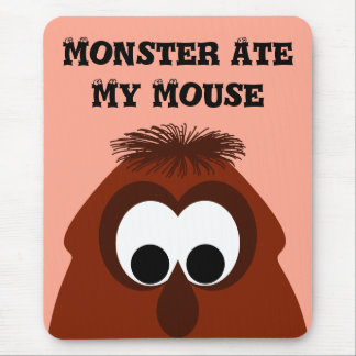 Silly Little Dark Red Monster Mouse Pad