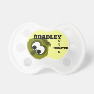 Silly Little Dark Yellow Monster Pacifiers