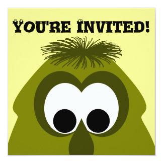 Silly Little Dark Yellow Monster Invite