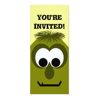 Silly Little Dark Yellow Monster 10 Cm X 24 Cm Invitation Card
