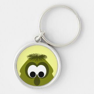 Silly Little Dark Yellow Monster Key Chains