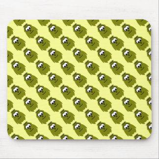 Silly Little Dark Yellow Monster Mousepads