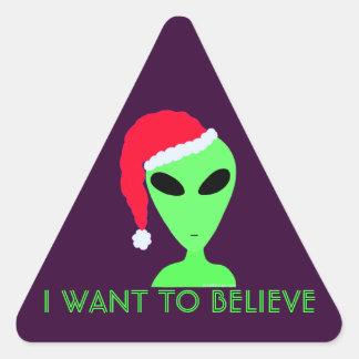 Silly Little Green Man Christmas Geek Fun Decal Stickers