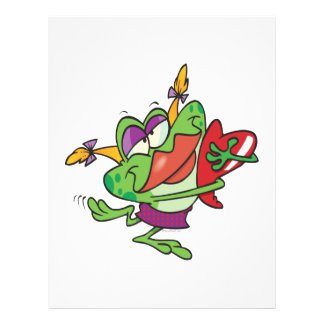 silly love girly froggy cartoon character flyer