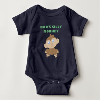Silly Monkey - Baby Jersey Bodysuit