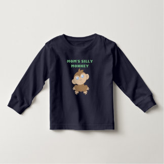 Silly Monkey - Toddler Long Sleeve T-Shirt Tee Shirts