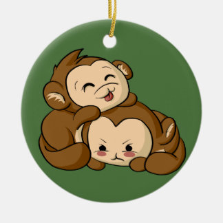 Silly Monkeys! Christmas Ornament