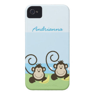 Silly Monkeys Personalized Blackberry Phone Case iPhone 4 Case