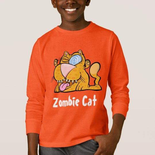 Silly Monster's Zombie Cat long Sleeve T-shirt