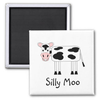 Silly Moo Square Magnet