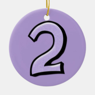 Silly Number 2 lavender Ornament