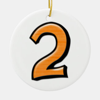 Silly Number 2 orange Ornament